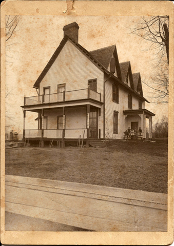 This is the earliest photo we have of our earliest known building - Woodside ca. 1848. Located at 2200 Bredell, woodside was the longtime home of the our pioneer family, the Rannells. As you might expect it contains our earlist known stonework. Courtesy of Greg Rannells.