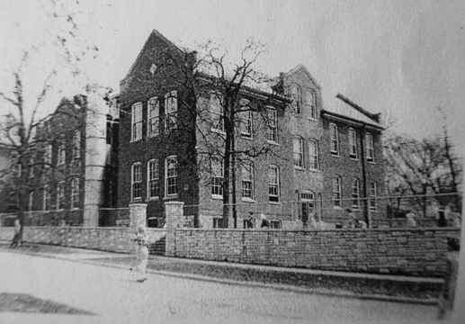 Valley School from a slightly different angle. The school was razed probably not long after these photos were taken. The new Valley school was built where the ECC is now. The oldest parts of the ECC are that school.