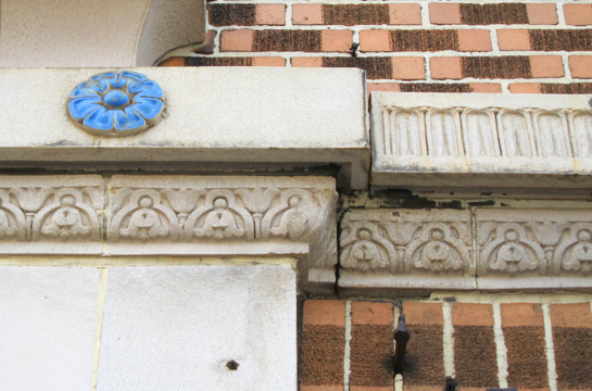 Several of the aforementioned floral themed moldings and ornament.