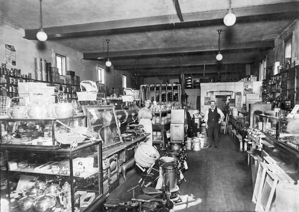 The interior of the store in 1919. Courtesy of Bob Scheidt.
