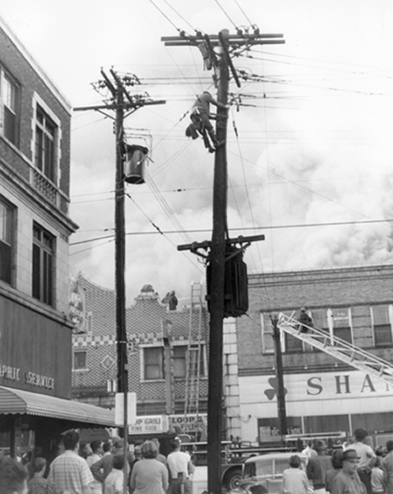 This was the shamrock Furniture store fire, I recall from the library clippings.