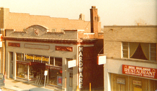 This photograph was most likely taken from the top of the hated K Mart structure in the 1970s. Courtesy of Bob Scheidt.