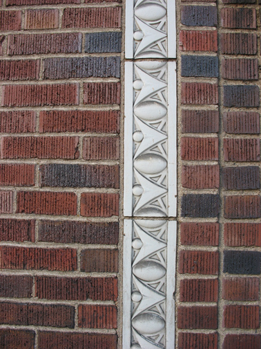 Here is an art Deco example of egg-and-dart molding on a building in the 7100 block of Manchester.