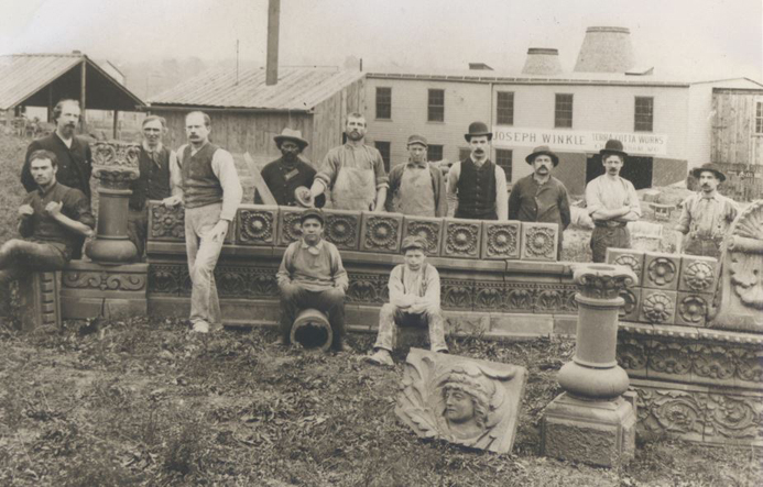 This fabulous photograph of some of the workers and possibly Winkle himself on the left is from the collection of the National Building Arts Museum.