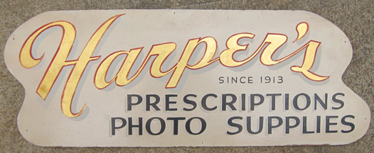 From memory this sign is about three feet long. Courtesy of Martin Fischer.