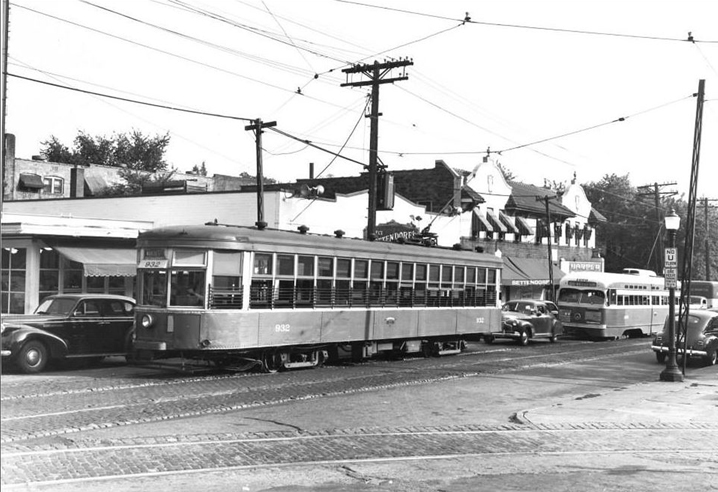 Judging by the cars the year this image was made may have been the late 1940's. If I remember correctly this image was found on the Facebook page, Vintage St. Louis.