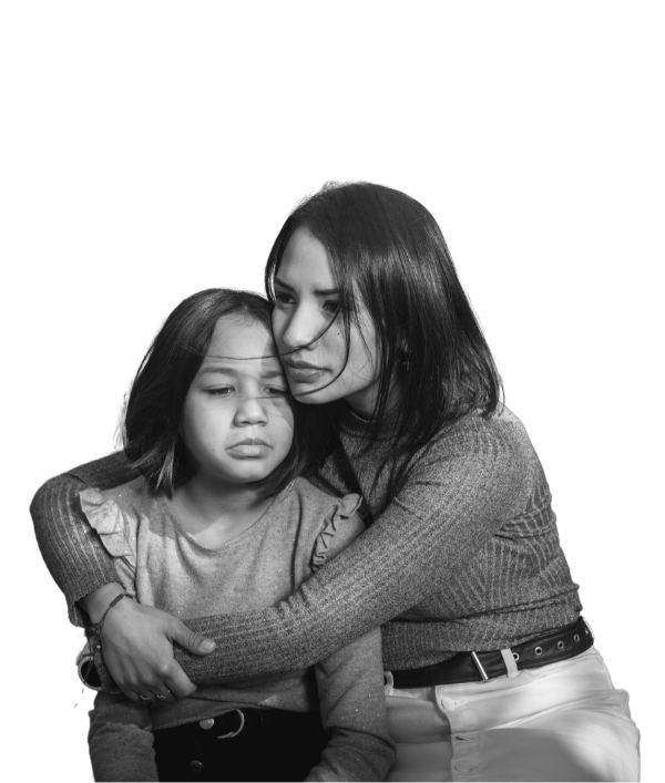 Single Mother Embraces Daughter - United Way of Delaware