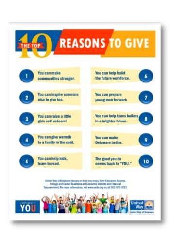 United Way of Delaware 2021 Campaign - 10 Reasons to Give (English)