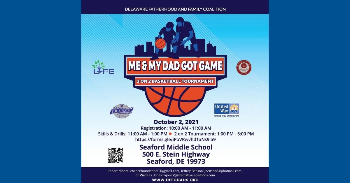 Flier for Father Son 2on2 Basketball Tournament