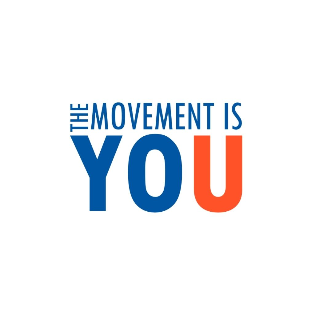 The Movement is You Logo (Blue & Red)