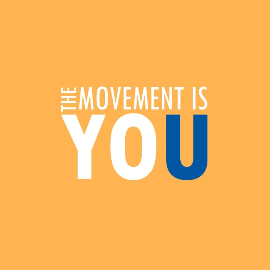 The Movement is You Logo (White & Blue)
