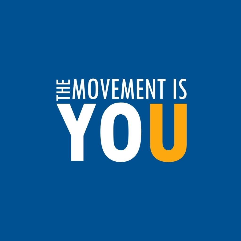 The Movement is You Logo (White & Yellow)