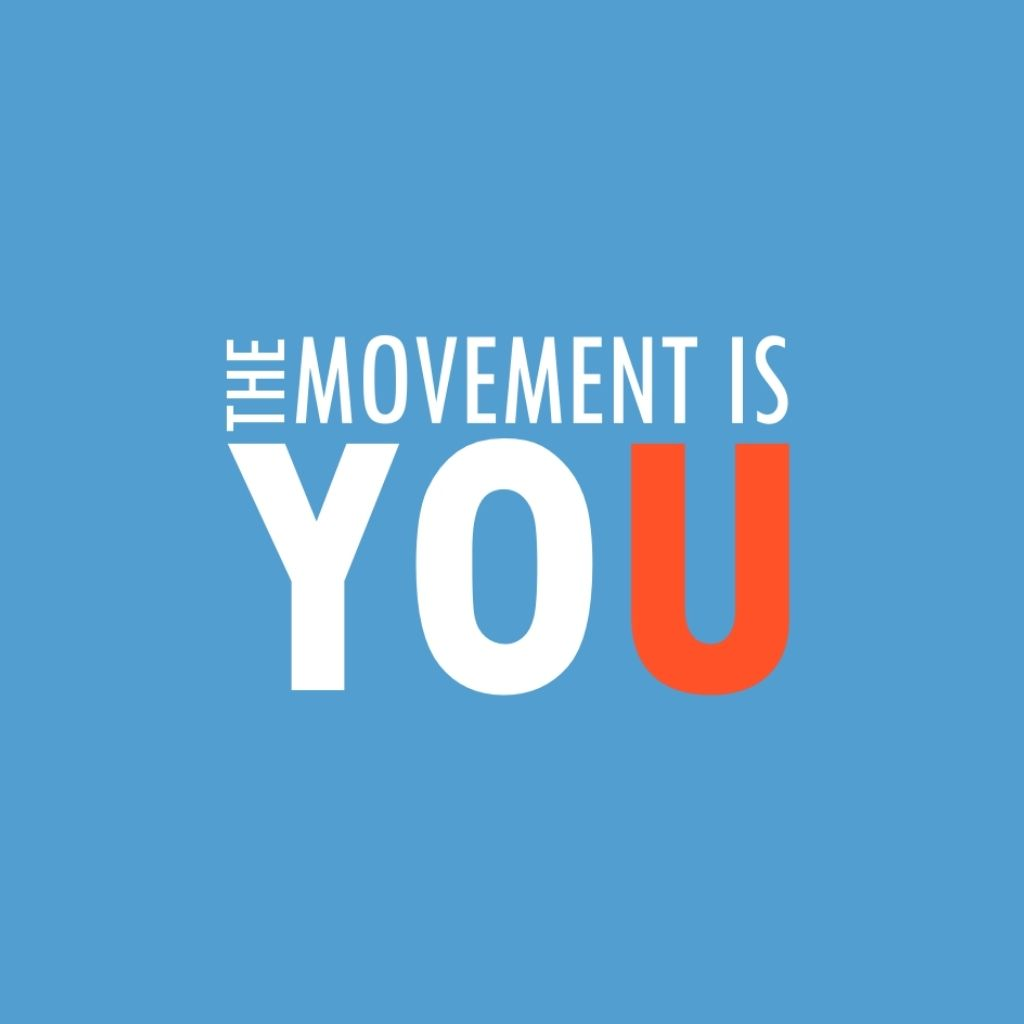 The Movement is You Logo (White & Red)