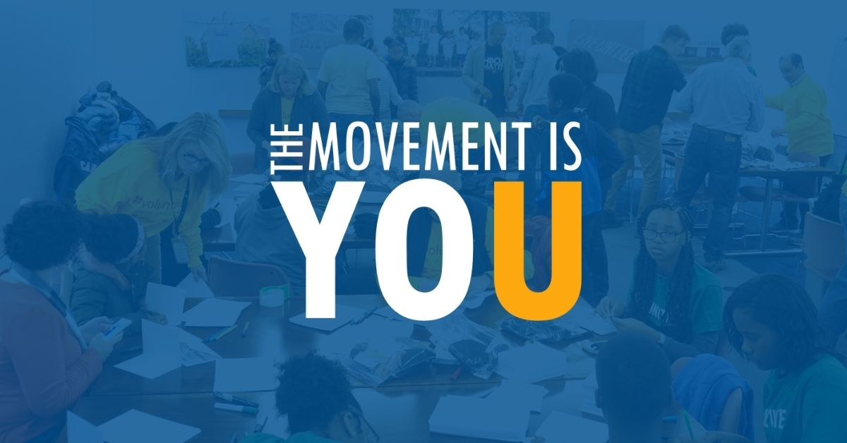 The Movement is You Logo - United Way of Delaware 2021 Fundraising Campaign