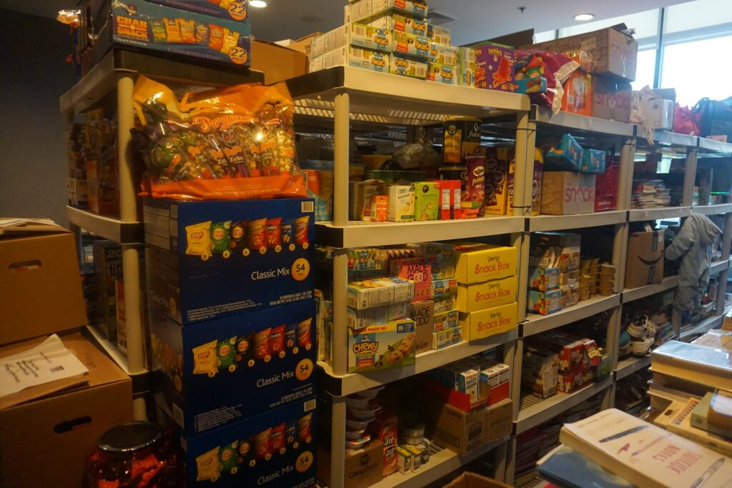 Food pantry inside New Castle County Hope Center