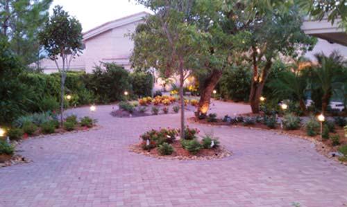 Prayer Garden with night lighting