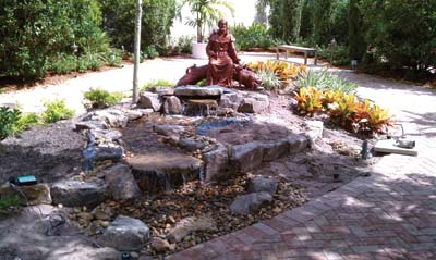 prayer garden St Francis of Assisi
