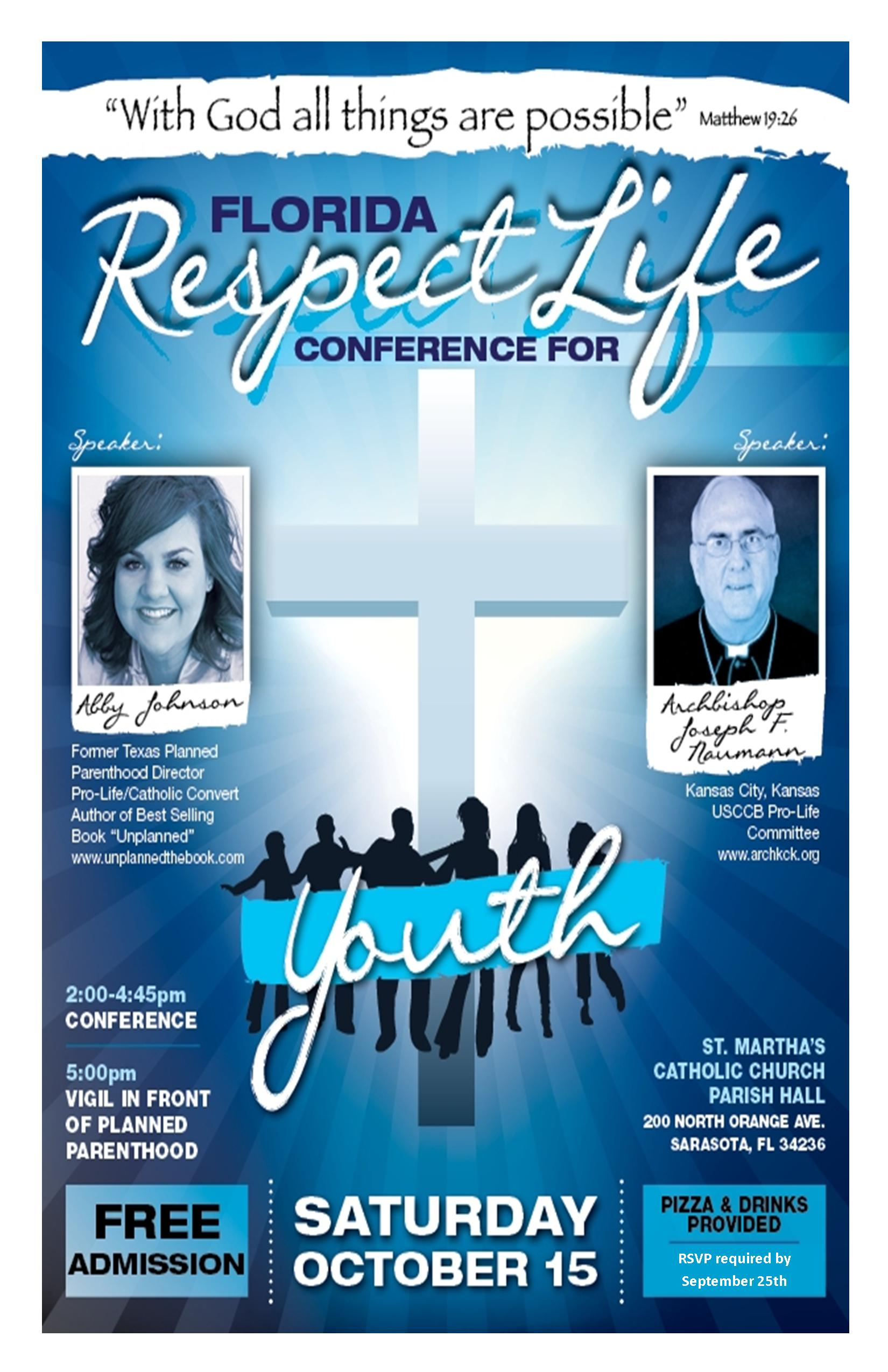 Florida Respect Life Conference for Youth 2011 flyer