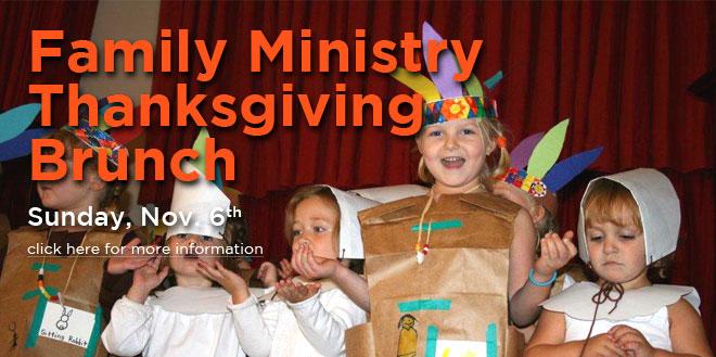 family ministry thanksgiving brunch