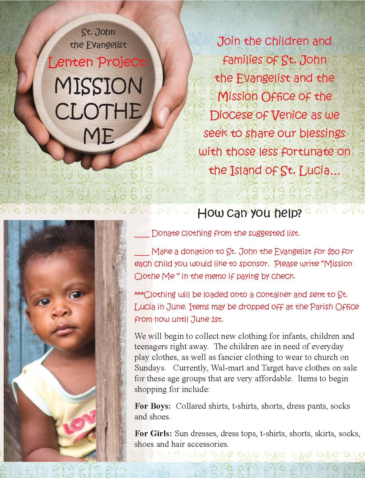 mission clothe me flyer