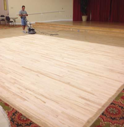 Sanding dance floor
