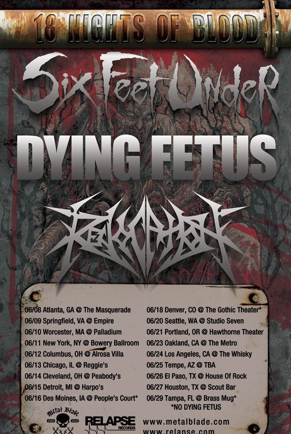 18 Nights of Blood Tour feat Six Feet Under and Dying Fetus – REVIEW
