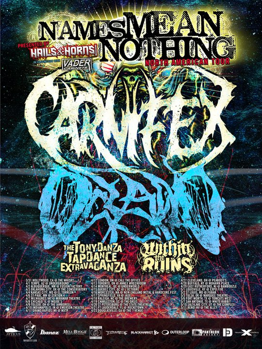 Names Mean Nothing Tour feat Carnifex & Oceano – REVIEW