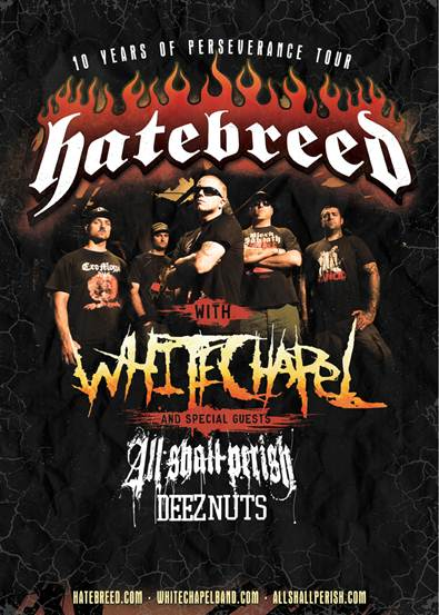 Hatebreed's 10 Years of Perseverance Tour – TOUR REVIEW