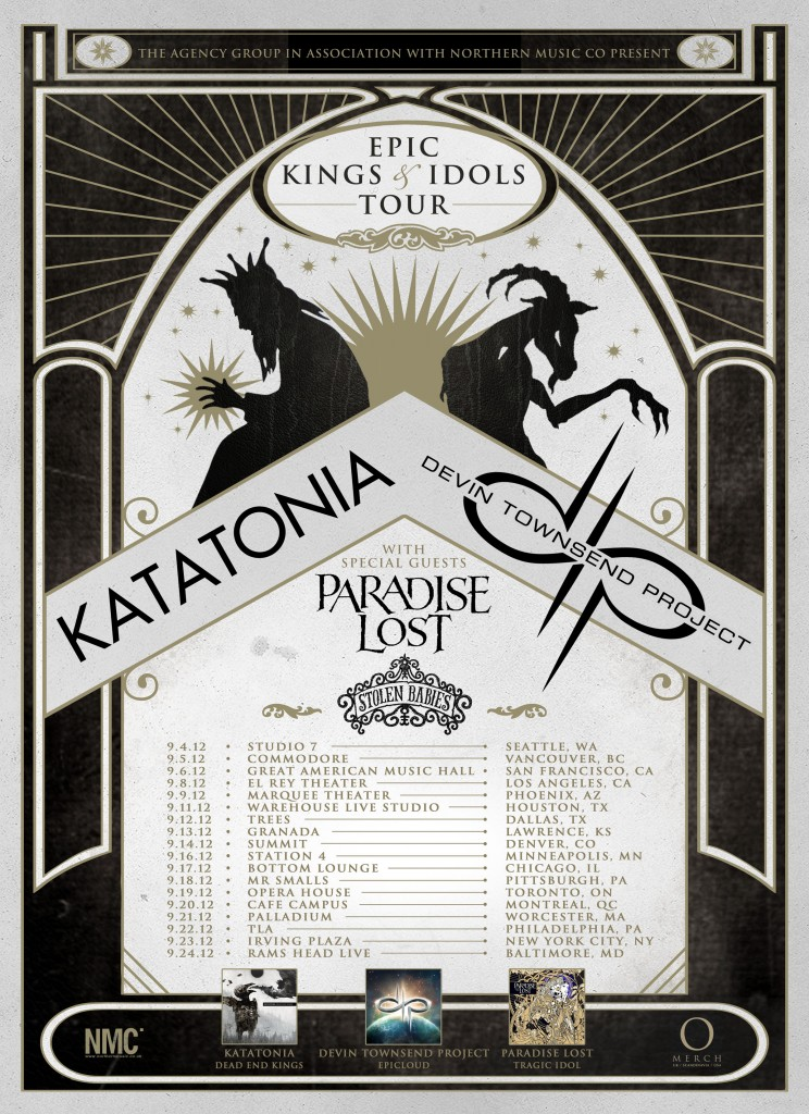 Epic Kings and Idols Tour feat. Devin Townsend and Katatonia – TOUR REVIEW
