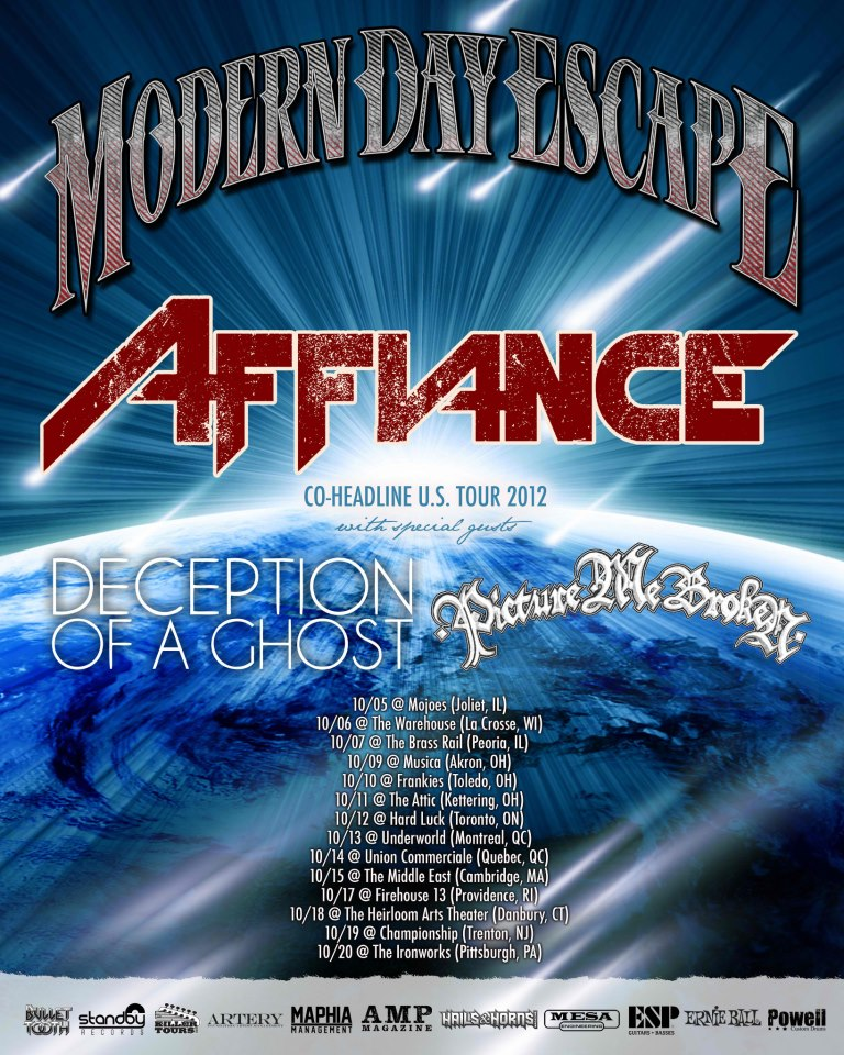 Modern Day Escape – 2nd ROAD BLOG from Co-Headline Tour with Affiance