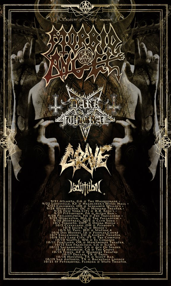 Morbid Angel North American Headline Tour 2012 – TOUR REVIEW