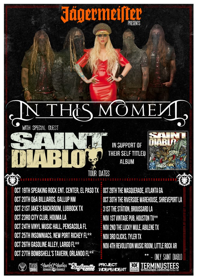 Saint Diablo – 3rd ROAD BLOG from In This Moment's Fall Tour