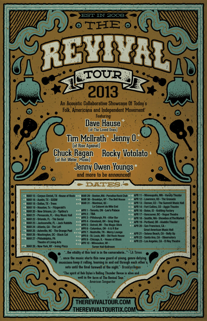 The Revival Tour 2013 feat. Dave Hause / Tim Mcllrath / Jenny O. / Chuck Ragan