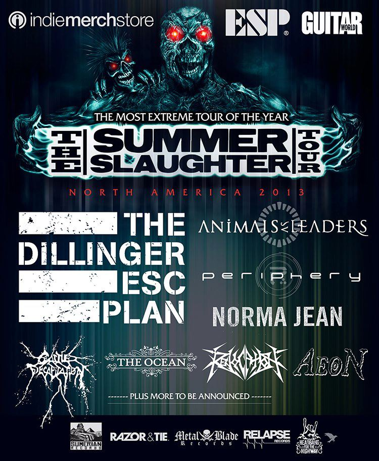 The Summer Slaughter Tour 2013 Lineup Announced