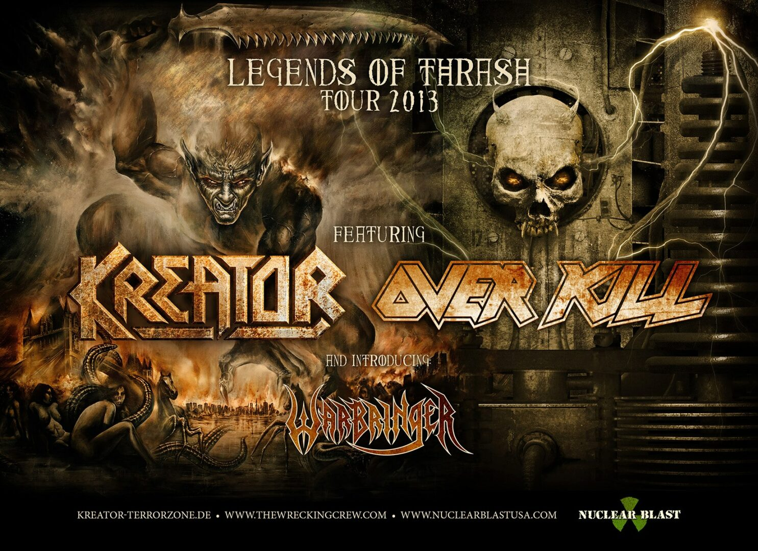 Legends of Thrash Tour 2013 featuring Kreator and Overkill – REVIEW