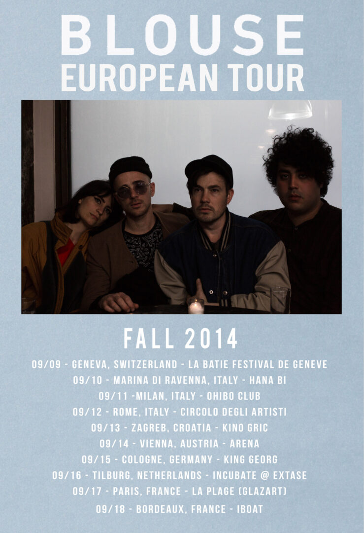 Blouse Fall EU Tour 2014-poster