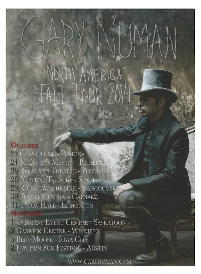 Gary Numan Fall North American Tour 2014-poster