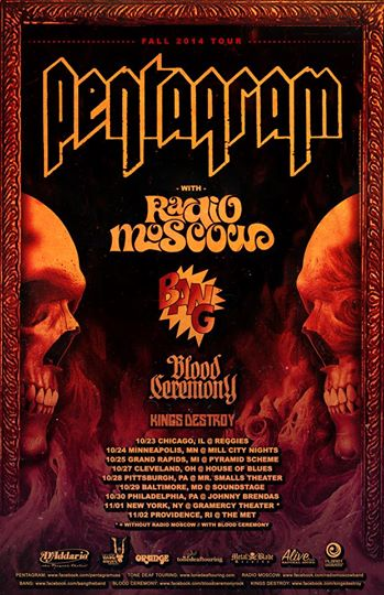 Pentagram Fall 2014 Tour - poster