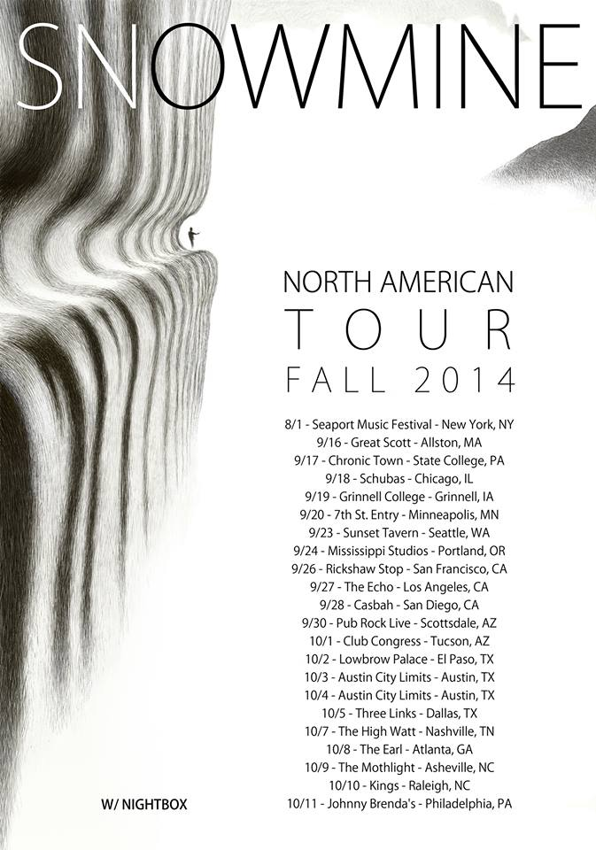 Snowmine Fall Tour 2014 - poster