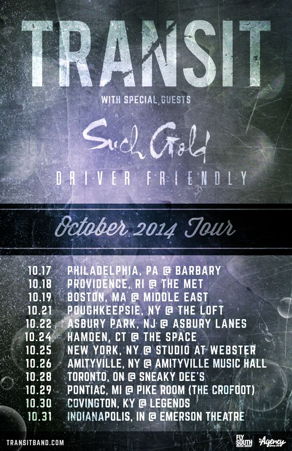 Transit Fall North American Tour 2014 - poster