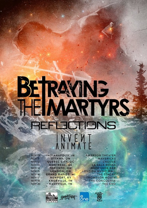 Betraying The Martyrs North American Tour 2014 - poster