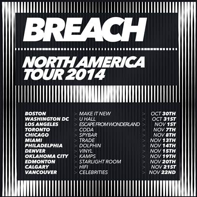 Breach North American Tour Fall 2014 - poster