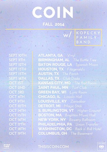 COIN w: Kopecky Family Band Fall 2014 - poster