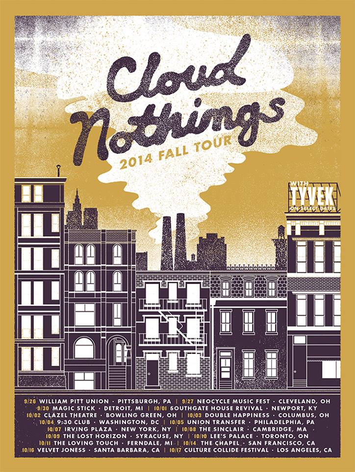 Cloud Nothings 2014 Fall Tour-poster