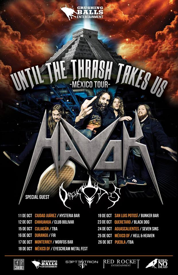 HAVOK - Mexico 2014 Tour - poster