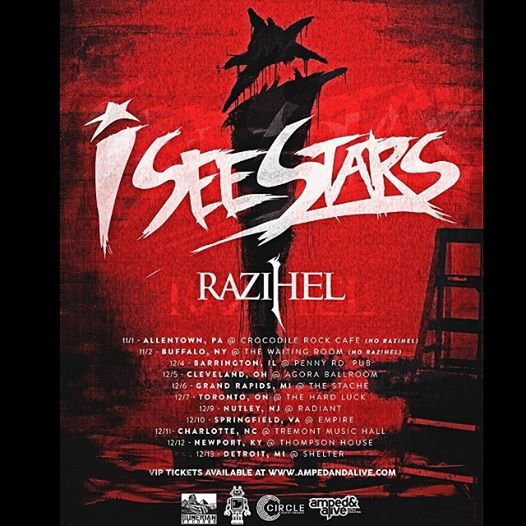 I See Stars Winter North American Tour 2014 - poster
