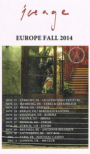 Iceage European Tour 2014 - poster