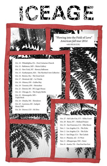 Iceage North American Tour 2014 - poster