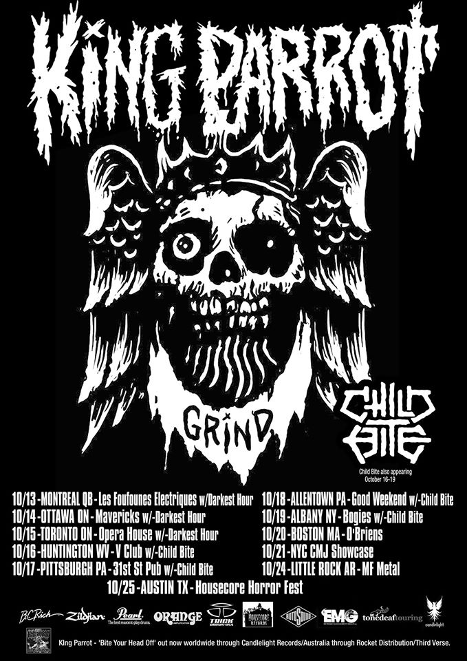 King Parrot - North American Tour 2014 - poster