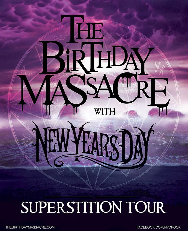 The Birthday Massacre - Superstition Tour - poster
